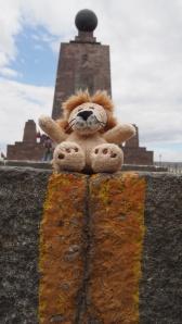 Lion auf der Miutad del Mundo