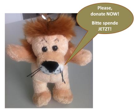 Lion Spendenaufruf